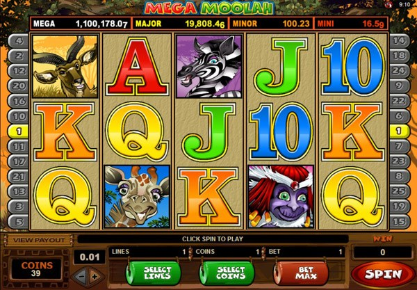 Enjoy the Mega Win Casino Bonus with Mega Moolah Casino Slot
