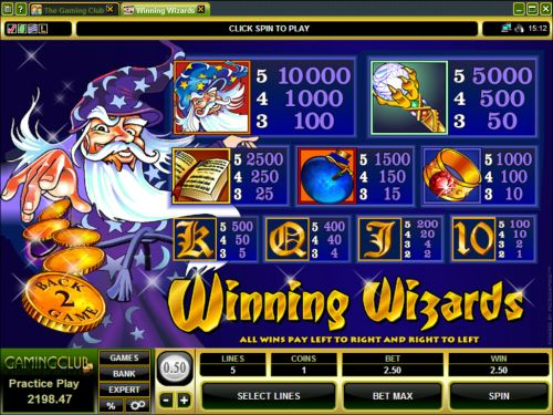 Wizards Casino Game